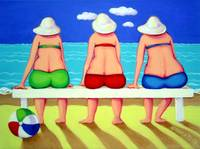 Wave Watch - Funny Women Beach Seashore