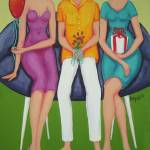 """The Party - Colorful Women Men Party"" by RebeccaKorpita"