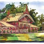 """Pavilion, Tower Grove Park"" by michaelandersonartprints"