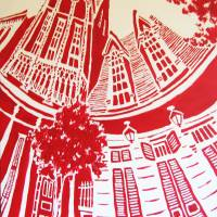 """Rue Burgundy in Red"" by ChrisHolt"