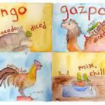 """""""Mango Gazpacho by Charrow"""" by TheyDrawandCook"""