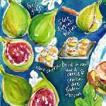 """Blue Fig Crostini by Shirley Ng-Benitez"" by TheyDrawandCook"