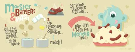 Monster Bangers & Mash by Sarah Ward