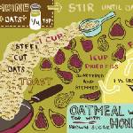 """Oatmeal with Honeyed Figs by Jessica Pollak"" by TheyDrawandCook"