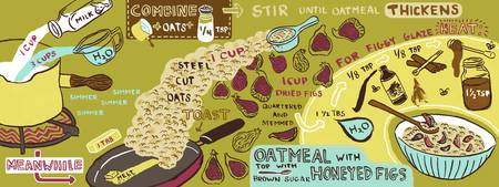 Oatmeal with Honeyed Figs by Jessica Pollak