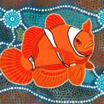"""Aboriginal Art ""Clown Fish"""" by KenKendallDesign"