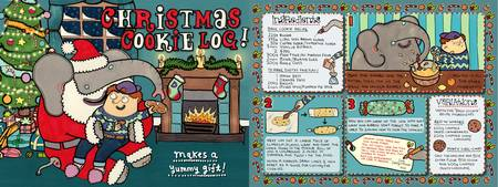 Christmas Cookie Log by Claire Murray