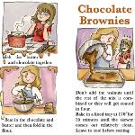 """Chocolate Brownies by Amy McKay"" by TheyDrawandCook"