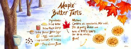 Maple Butter Tarts by Kim Fleming