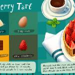 """Chocolate Strawberry Tart by Nata Metlukh"" by TheyDrawandCook"