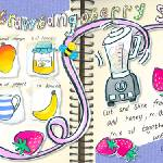 """Strawbangoberry Shake by Claudia Fehr-Levin"" by TheyDrawandCook"