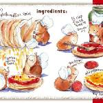 """Fast English Muffin Pizza! by Shirley Ng-Benitez"" by TheyDrawandCook"