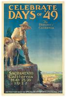 Celebrate Days of '49, 1922 (colour litho)