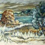"""brown tree blue tree"" by jjwolf2"