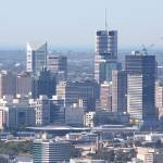 """""""Panorama view of Brisbane city central"""" by gregnean"""