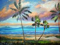 Tropical Island Beach Painting
