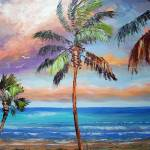 """Palm Tree - Tropical Island Beach"" by mazz"