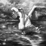 """Ride A White Swan"" by MightyFineArt"
