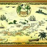 """Virgin Islands Nautical Chart"" by savanna"
