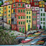"""Colours of Riomaggiore, Cinque Terre"" by LisaLorenz"