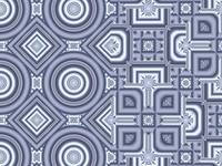 00064 Geometric art, light blue