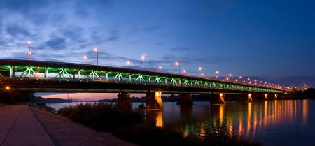 Night bridge in Warsaw