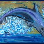 """Dolphin 3"" by paintingsbygretzky"