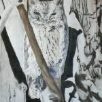 """Eastern Screech Owl 16x23"" by Coloradographicalchemy"
