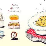 """Swiss Alpine Macaronies by Stefanie Hess"" by TheyDrawandCook"