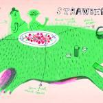 """""""Quick & Lazy Strawberry Salad by Marianna Oklejak"""" by TheyDrawandCook"""