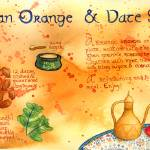 """Moroccan Orange and Date Salad by Kim Fleming"" by TheyDrawandCook"