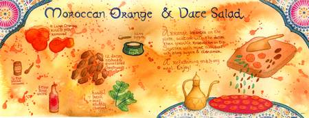 Moroccan Orange and Date Salad by Kim Fleming