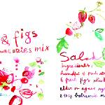"""Fresh Fig and Strawberry Salad by Meta Wraber"" by TheyDrawandCook"