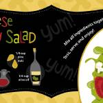 """Goat Cheese Berry Salad by Deborah Mori"" by TheyDrawandCook"