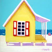 Tiny Yellow Cottage by the Sea - Beach Seashore