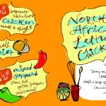 """North African Lemon Chicken by Alex Savakis"" by TheyDrawandCook"