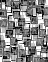 Monochrome Squares (digital) by Louisa Knight