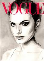 Vogue. Natalie Portman. Fashion Illustration