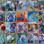 """Bulldog Mosiac"" by SusanTantlinger"