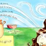 """Black Bean Chicken Soup by Amanda Kastner"" by TheyDrawandCook"