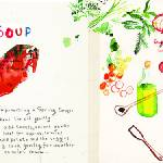 """Spring Garden Soup by Meta Wraber"" by TheyDrawandCook"