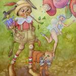 """Pinocchio"" by laurelnelsonwhimsy"