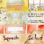 """Tahini Squash Salad by Charrow"" by TheyDrawandCook"