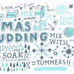 """Xmas Pudding by James Gulliver Hancock"" by TheyDrawandCook"