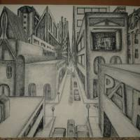 City Perspective Art Prints & Posters by Toni French