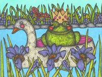 Frog Prince on a Swan Boat
