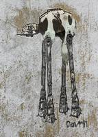 At - At Cow - Dali Style - Graffiti Art