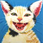 """One Cat Laughing - Funny Feline Kitty Cats"" by RebeccaKorpita"