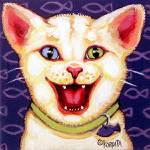 """One more Cat Laughing - Funny Feline Kitty Cats"" by RebeccaKorpita"
