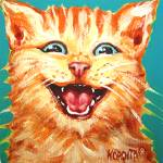 """Just Another Cat Laughing - Funny Kitty Cat"" by RebeccaKorpita"